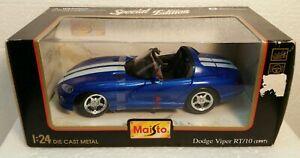 Dodge Viper RT/10 Maisto (1997) ~ Special Edition ~ 1:24 Die Cast Metal