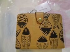 VERA BRADLEY Go Places PASSPORT Wallet Vachetta Brown Leather RFID Protection