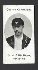 TADDY - COUNTY CRICKETERS - C H GRIMSHAW, YORKSHIRE