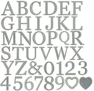 Large Diamante Glitter Letters Numbers Stick On Alphabet Self Adhesive Craft 5cm