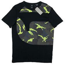 Men's G-STAR / G RAW Black + Crew Neck Logo T-Shirt Tee Shirt L Large NWT NEW
