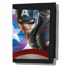 The Avengers Age of UItron Captain America 3D Image Tri-Fold Vinyl Wallet