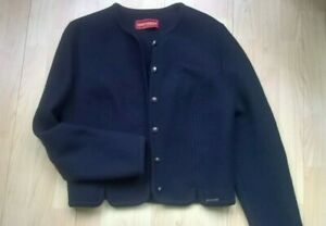 Ladies GEIGER Austria navy blue Wool Jacket Size 40 Excellent condition