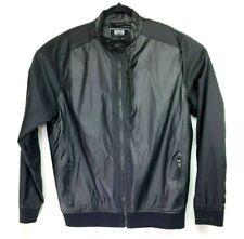 Black Windbreaker Moto Jacket Size Large