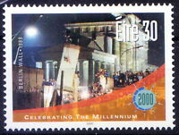 Ireland 2000 MNH Millennium Fall of Berlin Wall Germany, History Architecture ()