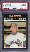 1971 Topps #183 Gil Hodges PSA 6 EX-MT