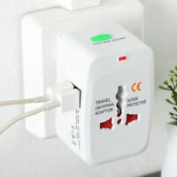 World Travel Universal Adapter Converter With Dual USB Charger AU/UK/US/EU Plug