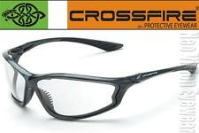 Crossfire KP6 Clear Lens Pearl Gray Safety Glasses Motorcycle Shooting Z87.1