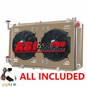 3ROW Radiator+Shroud Fan For 88-97 Nissan Patrol Y60 GQ 3.0 TD42 2.8 4.2L Diesel