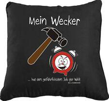 Kissenbezug  Kissen mit Füllung Motiv - Mein Wecker  - 40 cm x 40 cm