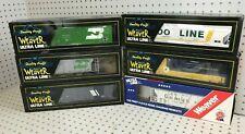6pc Lot WEAVER Ultra Line Hi-Rail Freight Cars Montana SOO Line C&O Golden Leaf