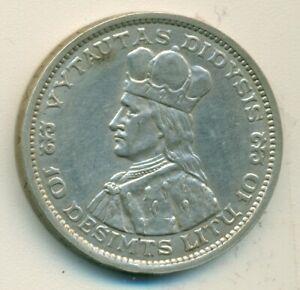 LITHUANIA, 1936, 10 Litu, XF