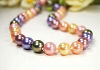 Halskette aus Muschelkernperlen in Kugelform Multicolour Ø-12 mm -muk13k