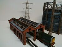 Modelux N Gauge Victorian Double Road Engine Shed Kit