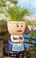 Flowerpot Figurine Resi Ceramic Herb Pot Planter for Flowers Planter