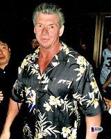 BECKETT-BAS WWE-WWF VINCE MCMAHON AUTOGRAPH-SIGNED 8x10 PHOTO-PHOTOGRAPH B67008