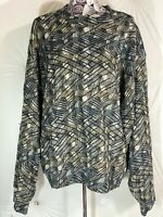 Jhane Barnes Mens Sweater Size Large Funky Abstract Pullover Light Sweater
