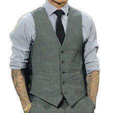 Men Formal Tuxedo Waistcoat Business Dress Vest Suit Tops Blazer Jacket Ceremony