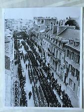 ww2 photo press Campagne d'Italie , defilé US Army    214