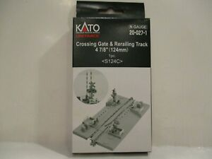 """KATO N SCALE CROSSING GATES & RERAILING TRACK - 4 7/8"""" (124MM) - NEW"""