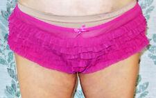 Beyond Sexy! Rampage Vintage Pink Ruffled Stretch Waist Panties L Xl Xxl Evc