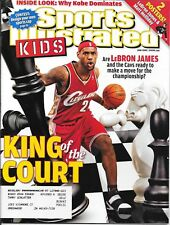 Sports Illustrated Kids 2008 LeBRON JAMES Cleveland Cavs KING Of The COURT MINT!
