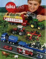 Siku Modellautokatalog 2005 kleiner Prospekt Modellautos brochure model cars