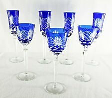 Rare Antique BACCARAT Flawless Crystal 4 Champagne & 3 Wine Goblets w/ Rocailles