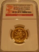 Australia 2012P Gold 1/4 oz $25 NGC PF-69UC Year of The Dragon