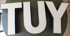 3 Marquee Letters 'T', 'U', 'Y' Metal Sign 15.5 inch, Electric, no wiring.