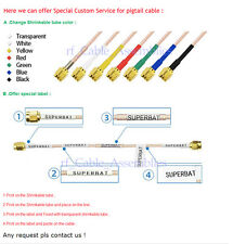 """Fakra male to Fakra plug """"Z"""" long RF pigtail cable RG174 30cm for Neutral coding"""