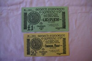 Cornwall - Cornish Stannary Parliament's  £1 & 50P Special fundraiser Banknotes