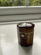 More details for antique real tortoiseshell thimble case 19th century with thimble