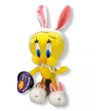 Vintage Applause Looney Tunes Tweety Bird Easter Bunny Plush~ Blockbuster Video!