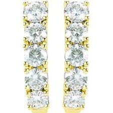 1.60 carat J Hoop Earrings Round Brilliant Diamonds G SI1 18k Yellow Gold