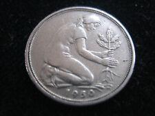 MDS DEUTSCHLAND BRD 50 PFENNIG 1950 G BANK DEUTSCHER LÄNDER  #55