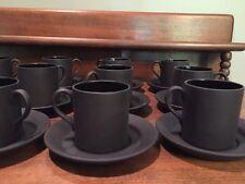 1- Vintage Wedgwood Black Basalt Espresso / Demitasse Cup and Saucer