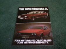 June 1978 PRINCESS 2 - 1700 2000 2200 UK BROCHURE Publication 3299 Austin Morris