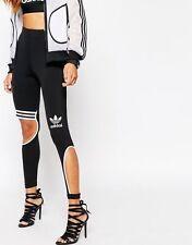 Adidas Originals Rita Ora W Black Cut Leggings Size UK 8, EU 34 New (505)