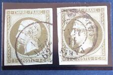 N°11 Et 11 b Olive Et Olive Clair Oblitéré CAD TB Cote 190€