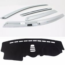 Chrome Weather Shields with Anti-Slip Dash Mat for 2006 - 2016 Holden Captiva 5