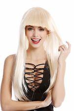 Peluca De Señoras Carnaval Halloween lang plano Pony blond Disco Glam 1374-88