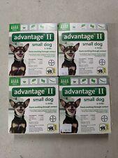 (4) boxes Advantage Ii Small dog Flea Lice Medicine. Four (4-packs)