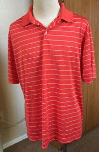 Champion Duo Dry Golf men's Polo Shirt XL orange/white stripe
