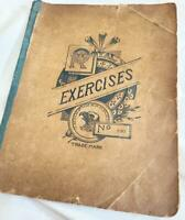 Vintage Royal Exercises Notebook w Handwritten Notes and Papers Tucked inside