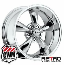 "17 inch 17x8""  /17x9"" Retro Chrome Wheels Rims 5x4.75"" for Chevy Cars 1953-1981"