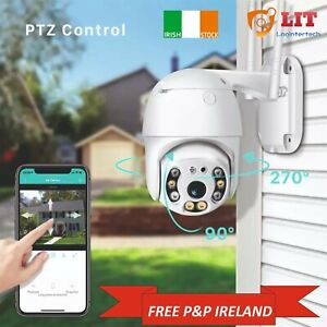 PTZ Wifi IP Camera 1080P Waterproof Dome Smart LED Night Vision Motion Alarm IE