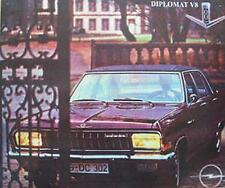 Älteres Blechschild Oldtimer Opel Diplomat V 8 Werbung Reklame gebraucht  used