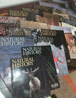 Lot of 22 Natural History Magazines Nature Art Photography 1988, 1989, 1990
