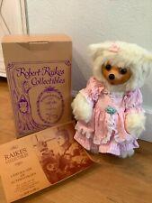 robert raikes teddy bears, original Emma bear, pink dress, mint condition